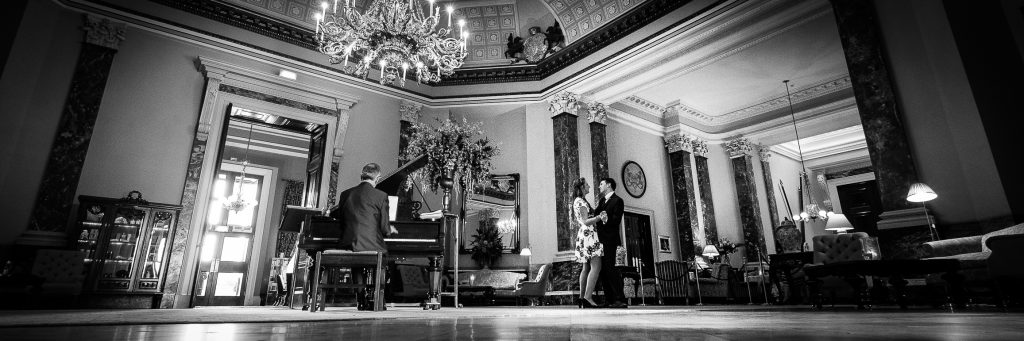 Documentary wedding photos at Wynyard Hall